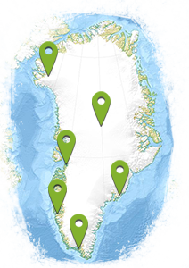 South Greenland location map