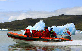 Greenland Tours from Iceland, speed boat navigation