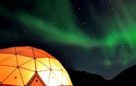 Where to see northern lights, Greenland Qaleraliq camp