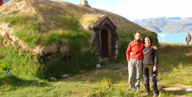 Greenland tours from Iceland. Viking ruins at Qassiarsuk