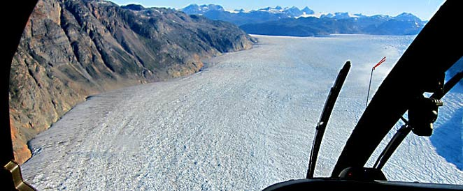 Helicopter optional excursion, south Greenland ice cap