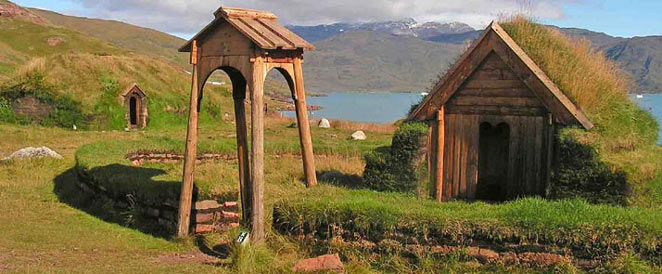Brattahlid viking reconstructions, South Greenland