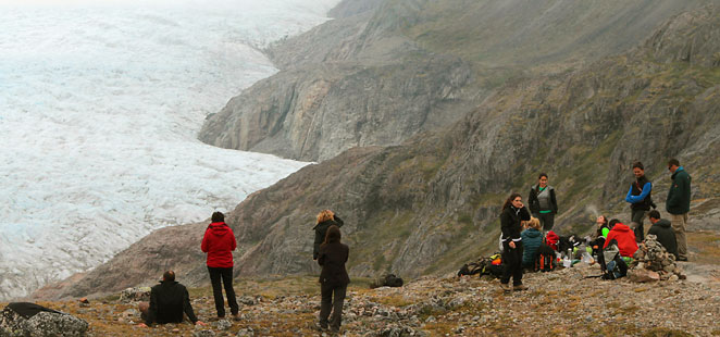 Greenland tours from Iceland, Kiattut glacier after Flower Valley hike