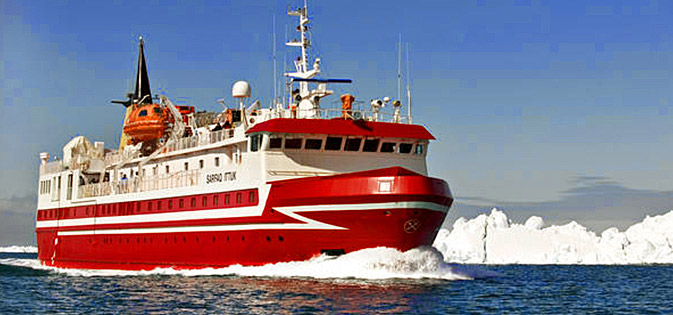 Arctic cruise from Ilulissat to Nuuk, western coast of Greenland