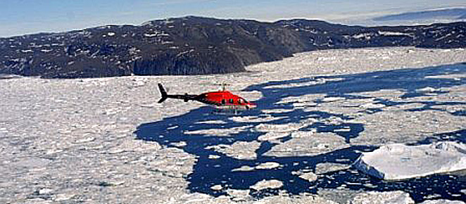 Ilulissat, helicopter excursion before the arctic cruise to Nuuk