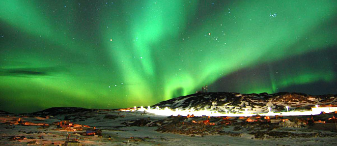 visit greenland, northern lights in winter