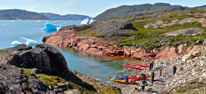 kayaking trips in greenland group rest