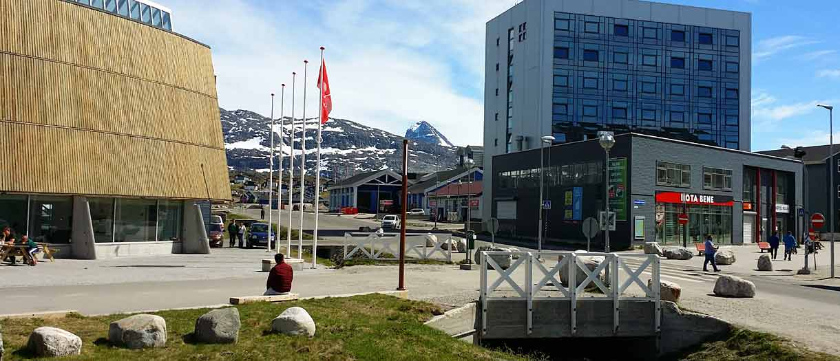 Summer travel to Greenland. Nuuk, the capital
