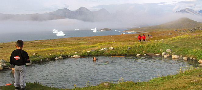 Uunartoq hot springs in South Greenland