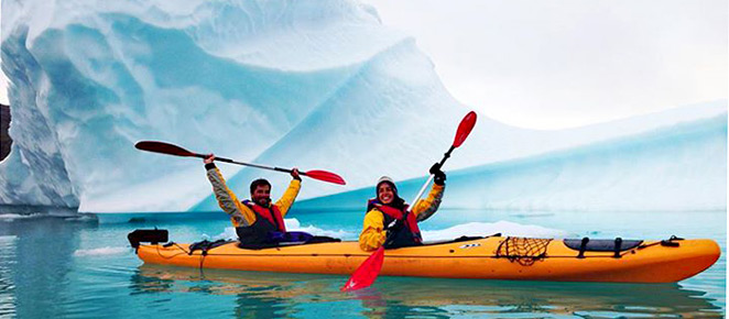 Best of South Greenland trip, kayaking among icebergs excursion