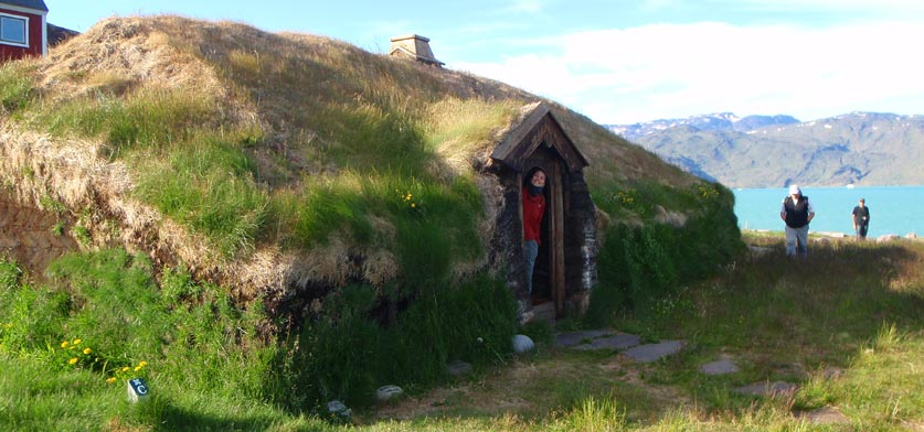 Summer travel in Greenland, viking ruins in Qassiarsuk