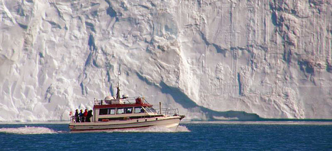Eqi glacier boat tour, Greenland vacation Ilulissat